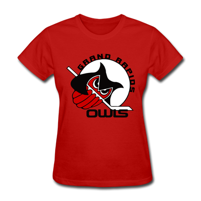 Grand Rapids Owls Women's T-Shirt - red