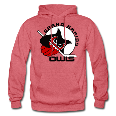 Grand Rapids Owls Hoodie - heather red
