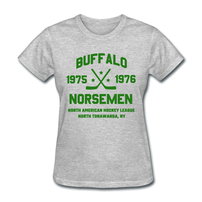Buffalo Norsemen Dated Women's T-Shirt (NAHL) - heather gray