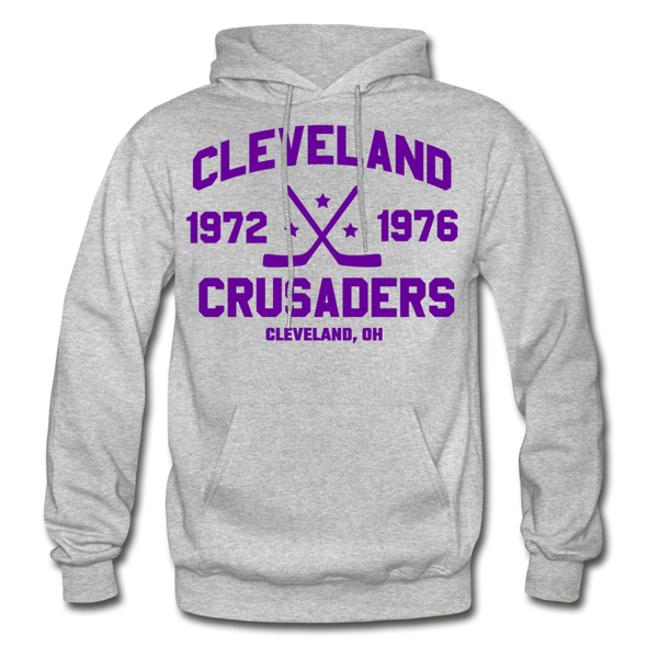 Cleveland Crusaders Double Sided Hoodie - heather gray