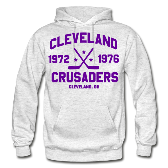 Cleveland Crusaders Double Sided Hoodie - light heather gray
