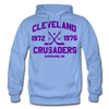Cleveland Crusaders Double Sided Hoodie - carolina blue