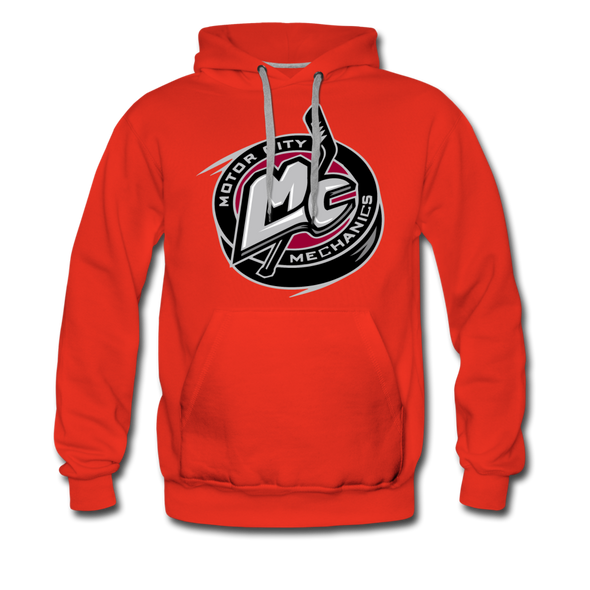 Motor City Mechanics Premium Hoodie - red
