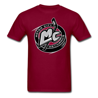 Motor City Mechanics T-Shirt - burgundy