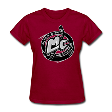 Motor City Mechanics Women's T-Shirt - dark red