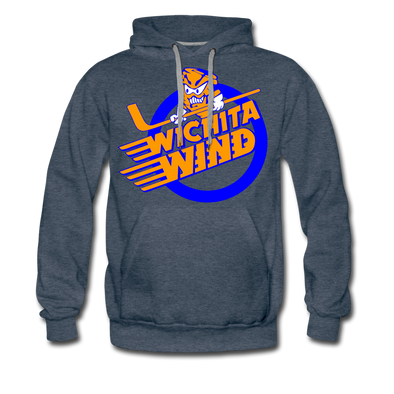 Wichita Wind Premium Hoodie - heather denim