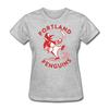 Portland Penguins Women's T-Shirt - heather gray