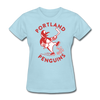 Portland Penguins Women's T-Shirt - powder blue