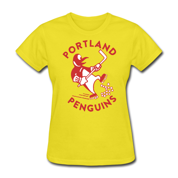 Portland Penguins Women's T-Shirt - yellow