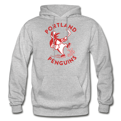 Portland Penguins Hoodie - heather gray
