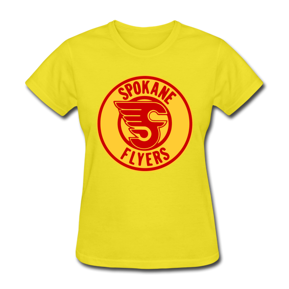 Spokane Flyers Women's T-Shirt - yellow