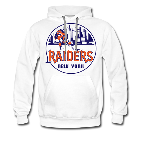 New York Raiders Logo Premium Hoodie (Single Sided Printing) - white