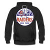New York Raiders Logo Premium Hoodie (Single Sided Printing) - black