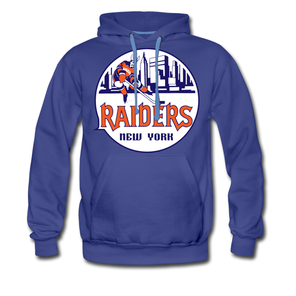 New York Raiders Logo Premium Hoodie (Single Sided Printing) - royalblue