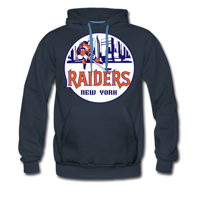 New York Raiders Logo Premium Hoodie (Single Sided Printing) - navy