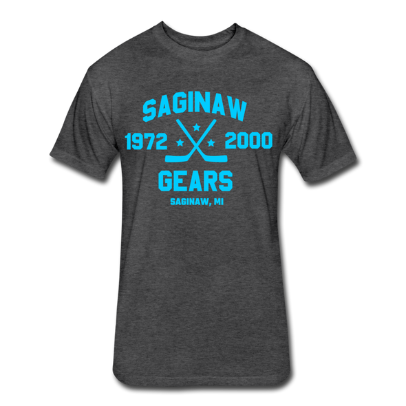 Saginaw Gears Dated T-Shirt - heather black