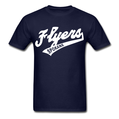 Spokane Flyers Script T-Shirt - navy