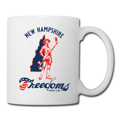 New Hampshire Freedoms Logo Mug - white