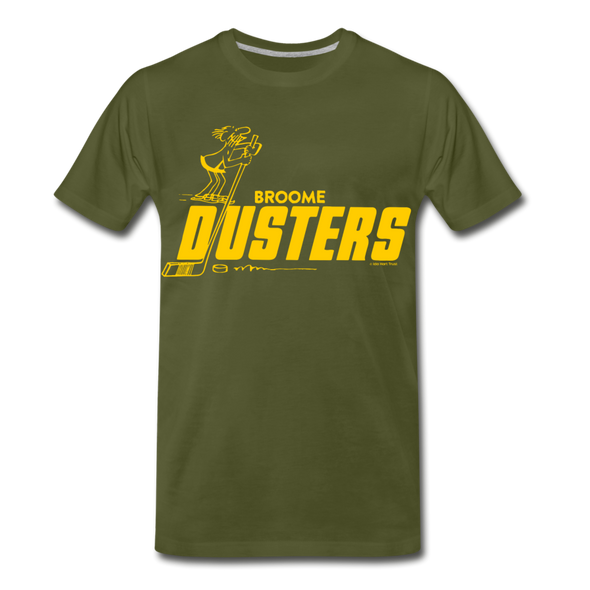 Broome Dusters T-Shirt (Premium) - olive green
