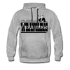 Amarillo Wranglers Black Logo Premium Hoodie - heather gray