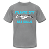 Atlantic City Sea Gulls Logo Premium T-Shirt - slate