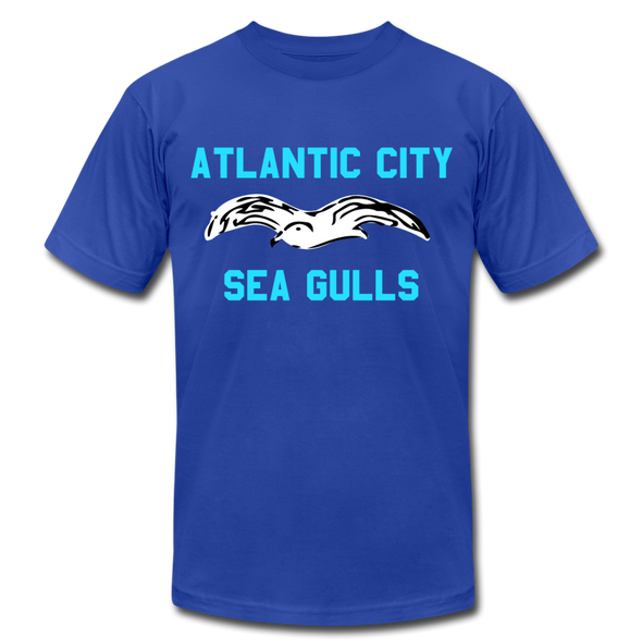 Atlantic City Sea Gulls Logo Premium T-Shirt - royal blue
