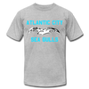 Atlantic City Sea Gulls Logo Premium T-Shirt - heather gray