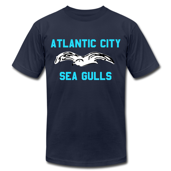Atlantic City Sea Gulls Logo Premium T-Shirt - navy