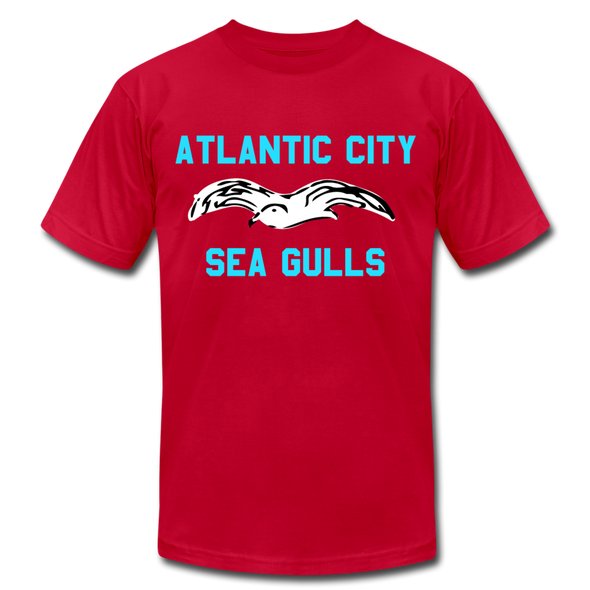 Atlantic City Sea Gulls Logo Premium T-Shirt - red
