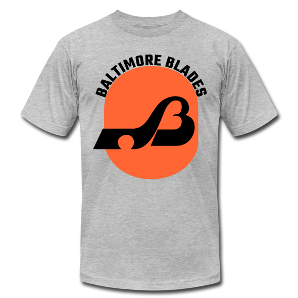 Baltimore Blades Text Logo Premium T-Shirt - heather gray
