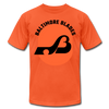 Baltimore Blades Text Logo Premium T-Shirt - orange