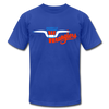 Amarillo Wranglers Logo T-Shirt (Premium) - royal blue