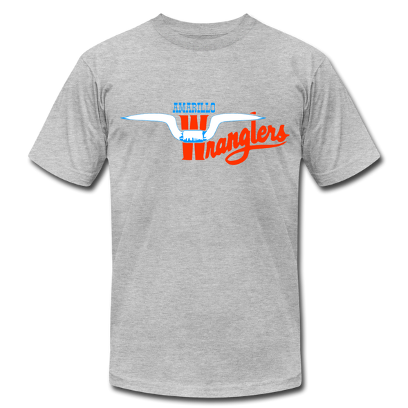 Amarillo Wranglers Logo T-Shirt (Premium) - heather gray