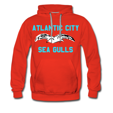 Atlantic City Sea Gulls Logo Premium Hoodie - red