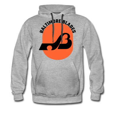 Baltimore Blades Text Logo Premium Hoodie - heather gray