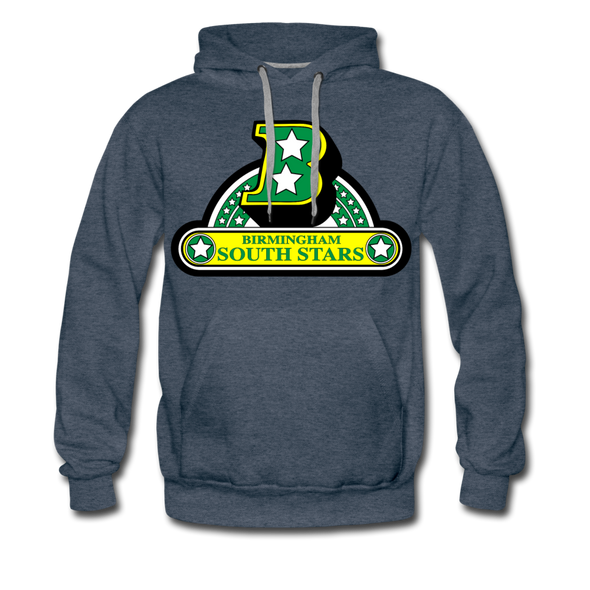 Birmingham South Stars Logo Hoodie (Premium) - heather denim