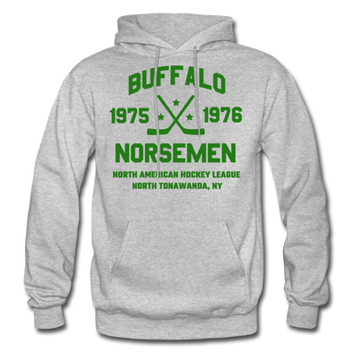 Buffalo Norsemen Double Sided Hoodie - heather gray