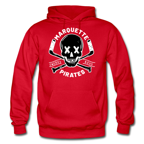 Marquette Pirates Dark Hoodie - red