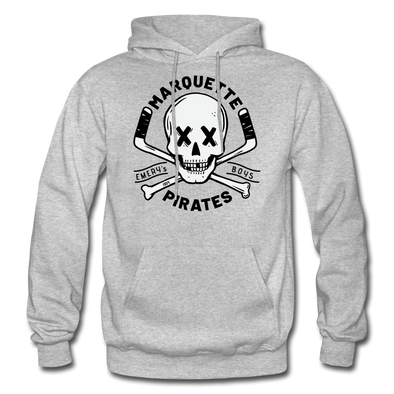 Marquette Pirates Light Hoodie - heather gray