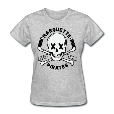 Marquette Pirates Light Women's T-Shirt - heather gray