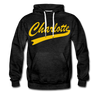 Charlotte Clippers Logo Hoodie (Premium) - charcoal gray
