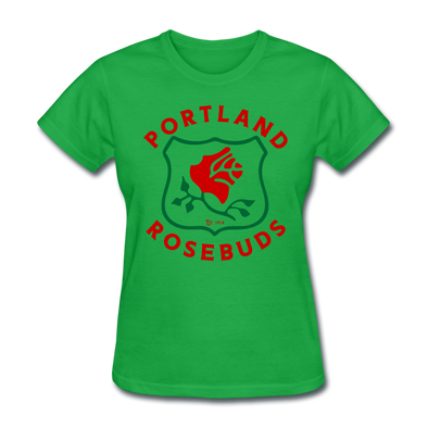 Portland Rosebuds Logo Women's T-Shirt - bright green