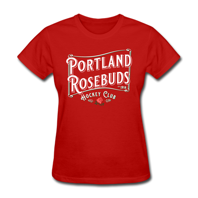 Portland Rosebuds Retro Women's T-Shirt - red