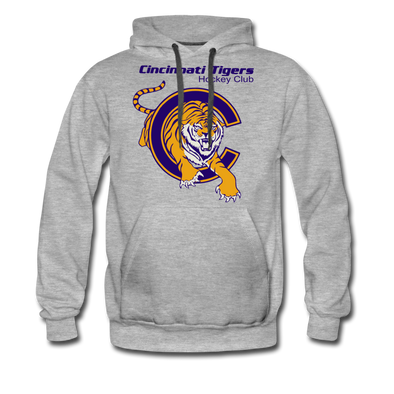 Cincinnati Tigers Hoodie (Premium) - heather gray