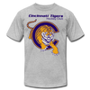 Cincinnati Tigers Logo T-Shirt (Premium) - heather gray
