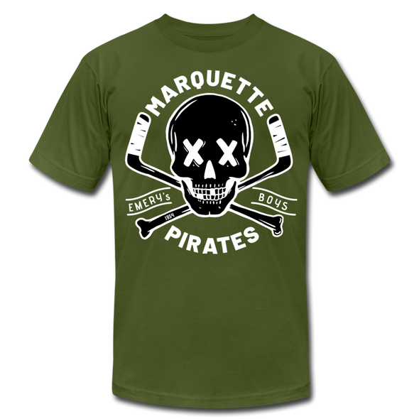 Marquette Pirates Dark T-Shirt (Premium) - olive