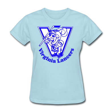 Virginia Lancers Knight Women's T-Shirt - powder blue
