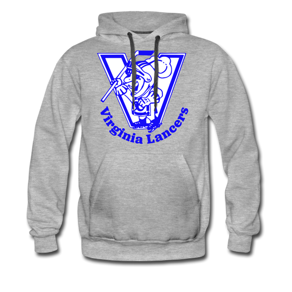Virginia Lancers Knight Hoodie (Premium) - heather gray
