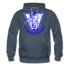 Virginia Lancers Knight Hoodie (Premium) - heather denim