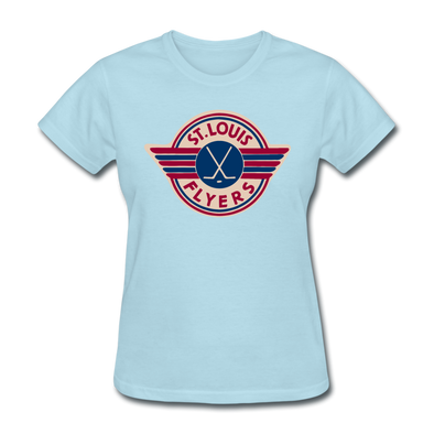 St. Louis Flyers Women's T-Shirt - powder blue